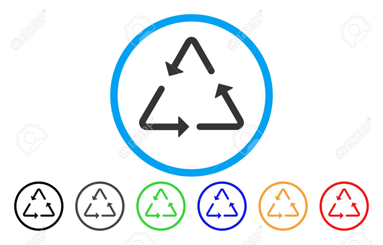 Recycling triangle vector rounded icon image style is a flat recycling triangle vector rounded icon image style is a flat gray icon symbol inside a buycottarizona Image collections