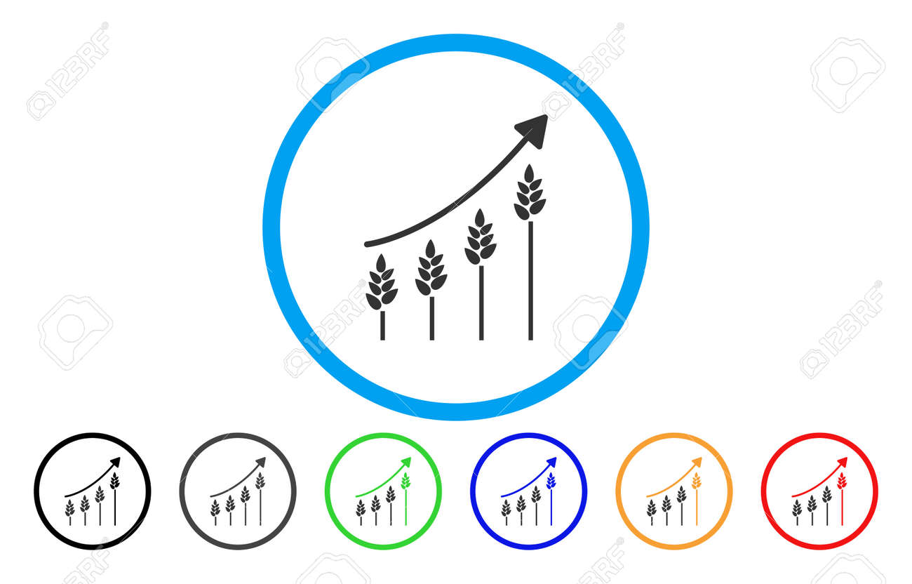 Wheat growing chart vector rounded icon image style is a flat vector wheat growing chart vector rounded icon image style is a flat gray icon symbol inside a blue circle bonus color variants are grey black blue ccuart Image collections