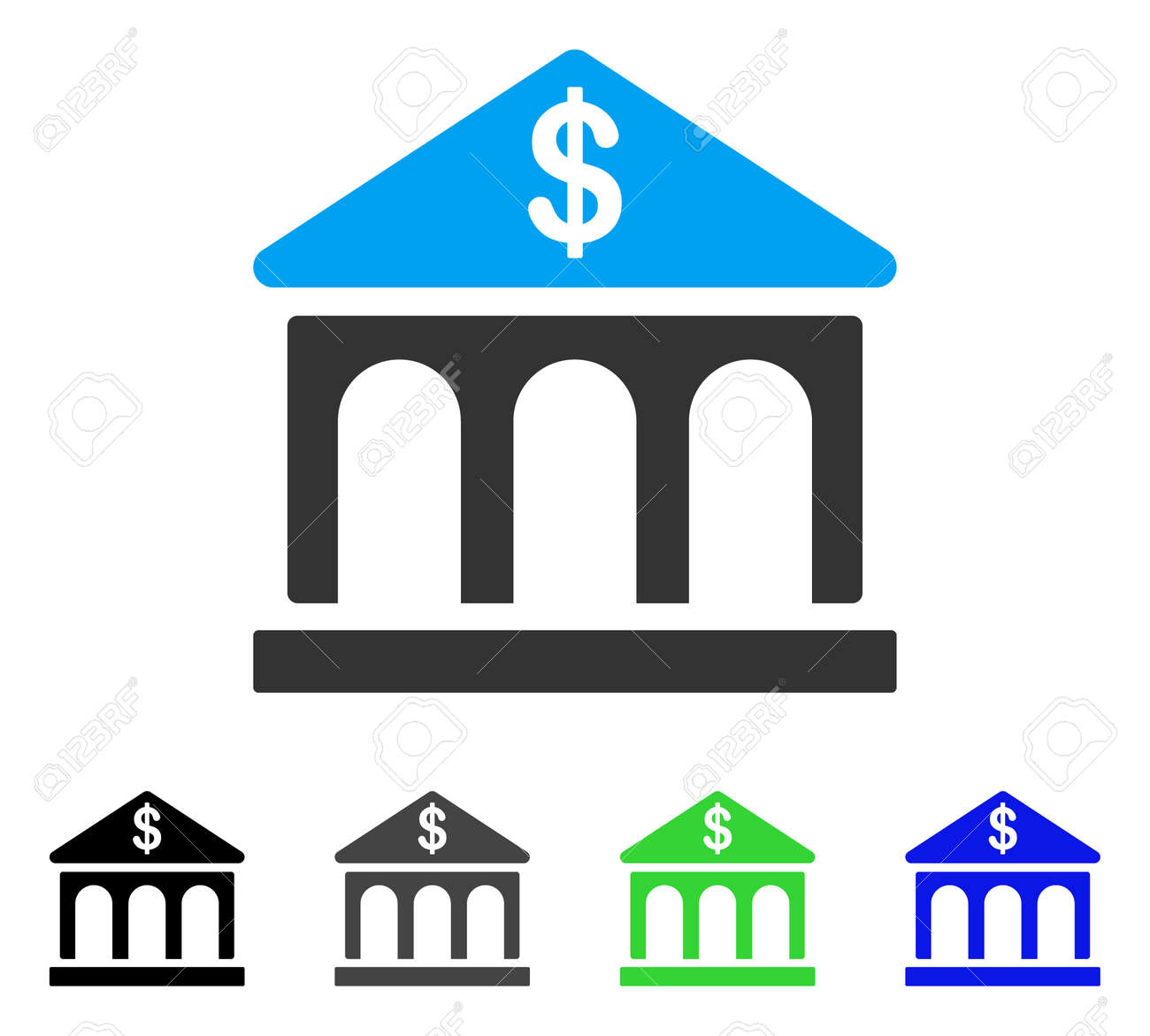 Classic bank building vector pictograph style is a flat graphic classic bank building vector pictograph style is a flat graphic symbol in black grey biocorpaavc Gallery