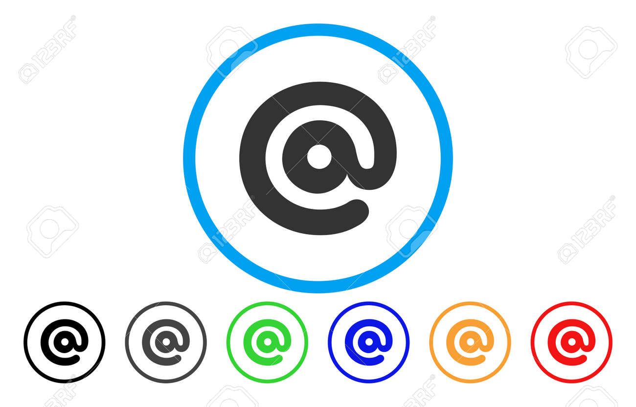 Email Symbol Rounded Icon Vector Illustration Style Is A Grey