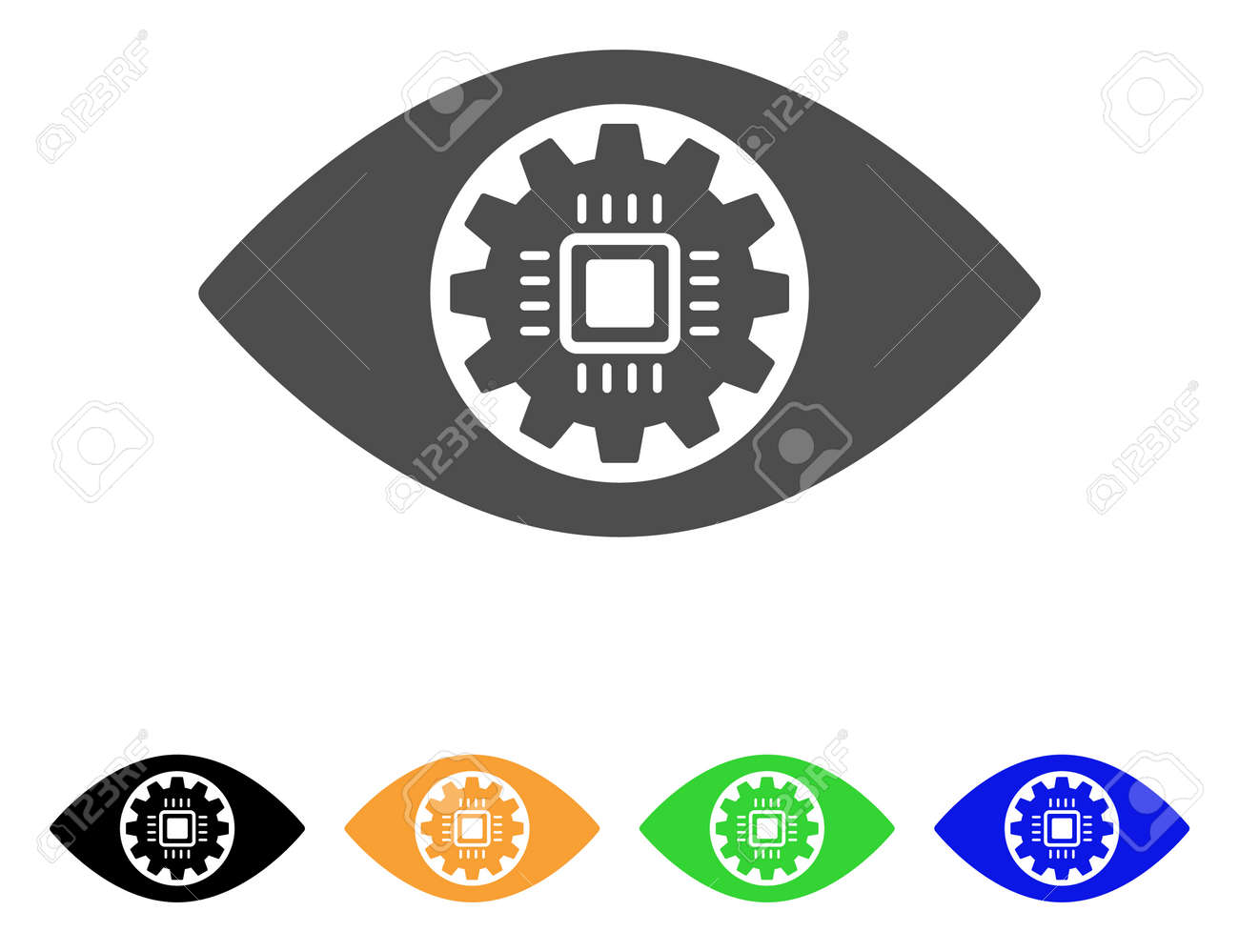 Robotics Eye Lens Vector Pictograph Style Is A Flat Graphic
