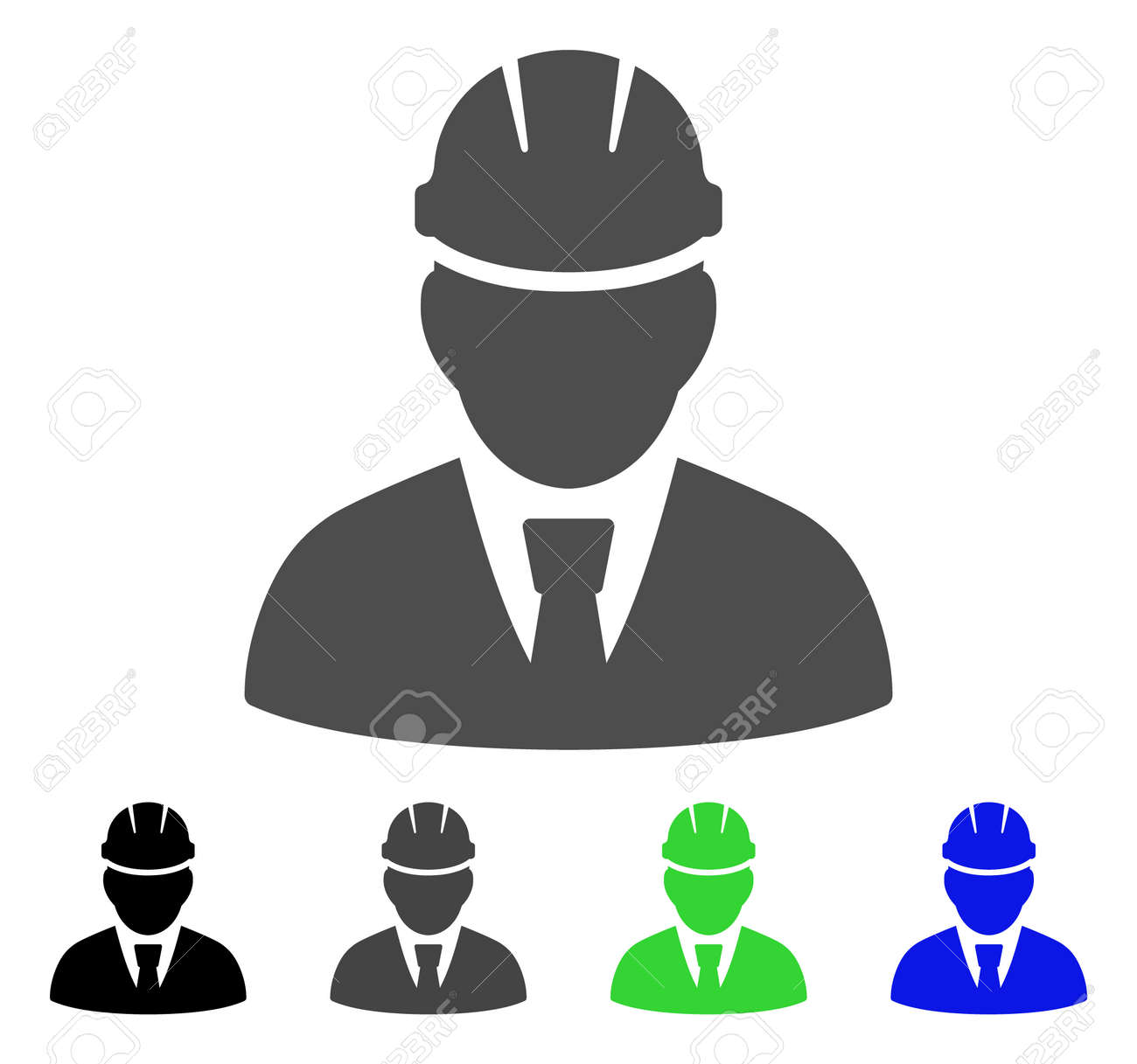 Engineer Icon Vector Illustration Style Is A Flat Iconic Engineer