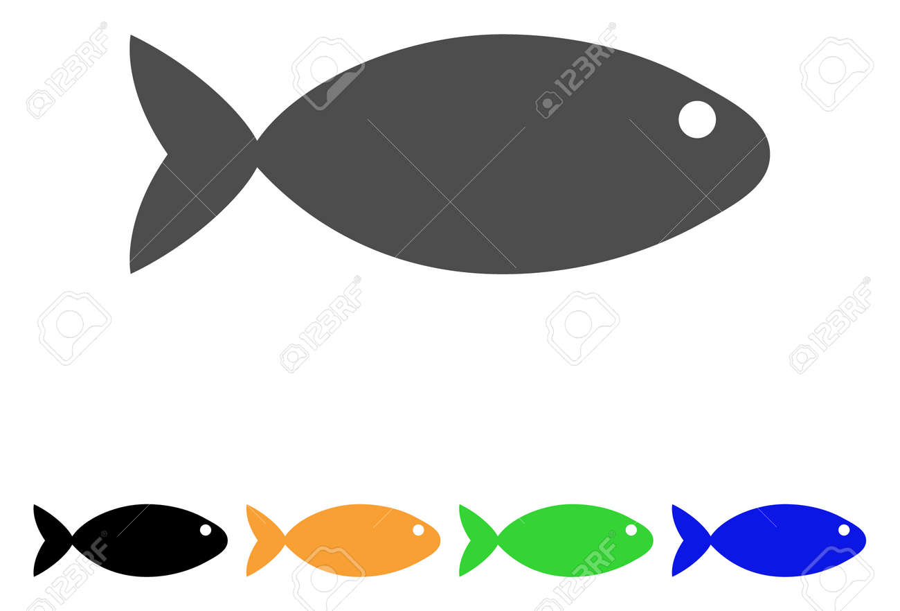 Fish icon vector illustration style is a flat iconic fish symbol fish icon vector illustration style is a flat iconic fish symbol with black grey buycottarizona Gallery