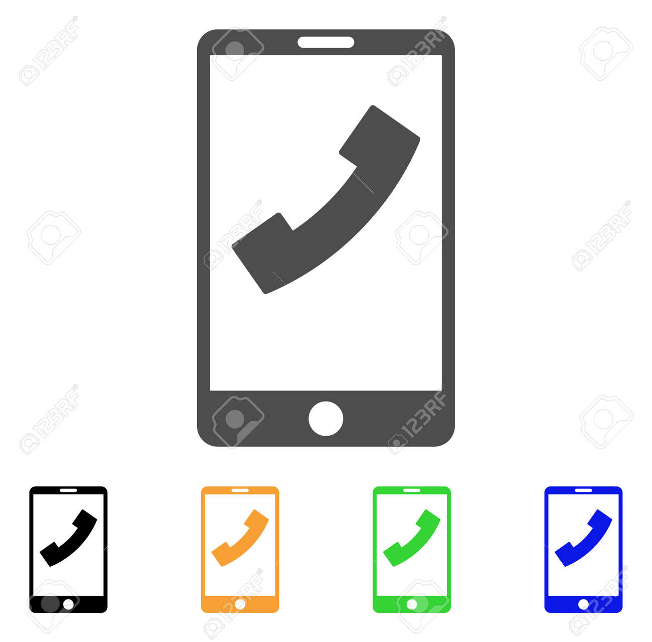 Cell Phone Icon Vector Illustration Style Is A Flat Iconic Cell