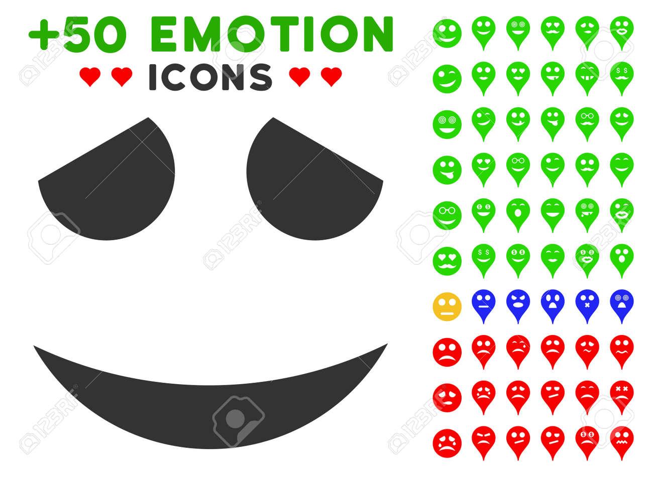 Pittogramma Sorriso Imbarazzato Con Immagini D Atmosfera Bonus Stile Di Illustrazione Vettoriale è Piatta Simboli Iconici Per Il Web Design