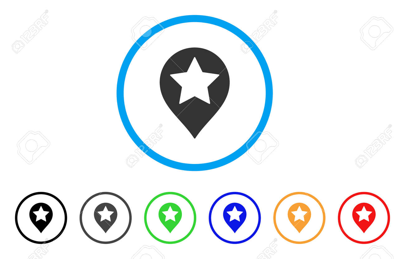 Star Map Marker Rounded Icon Style Is A Flat Star Map Marker