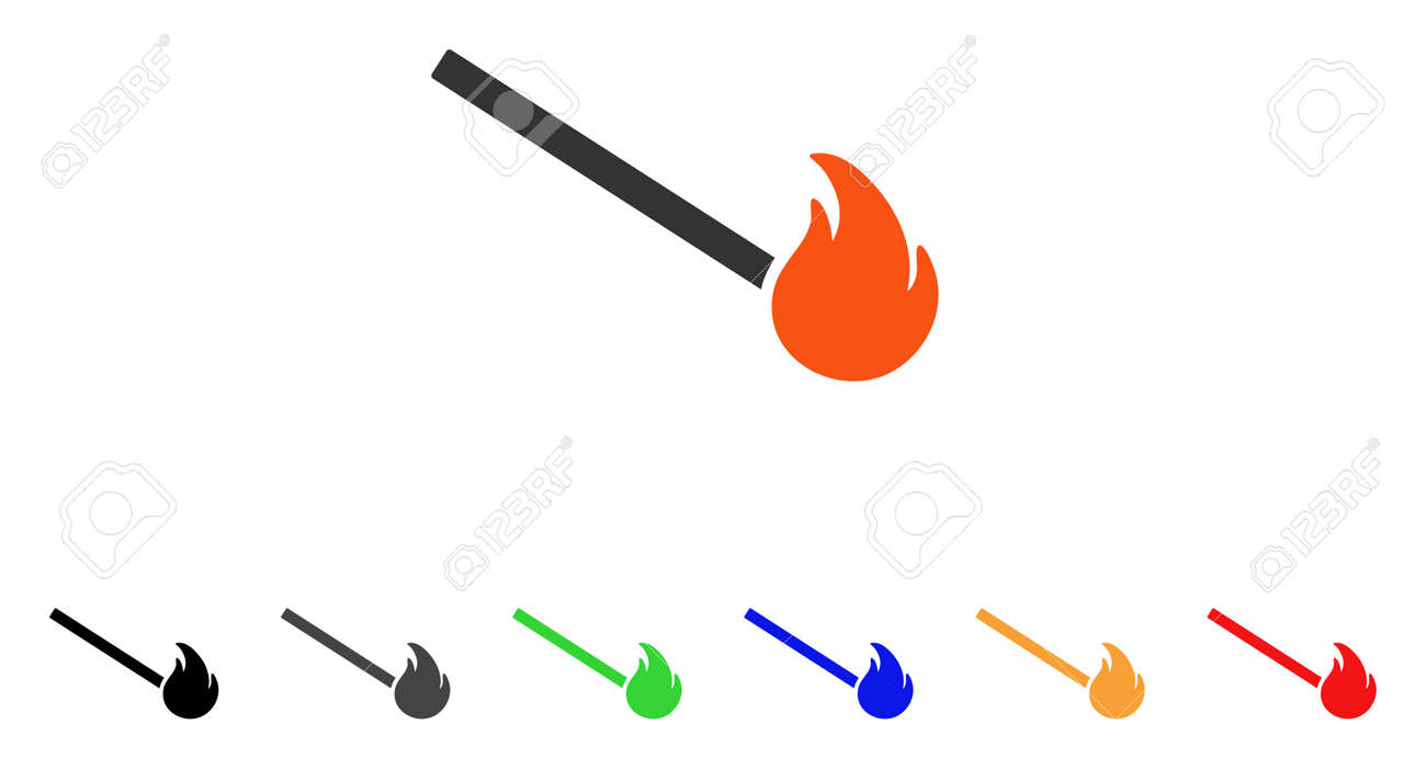 match fire icon vector illustration style is a flat iconic match rh 123rf com