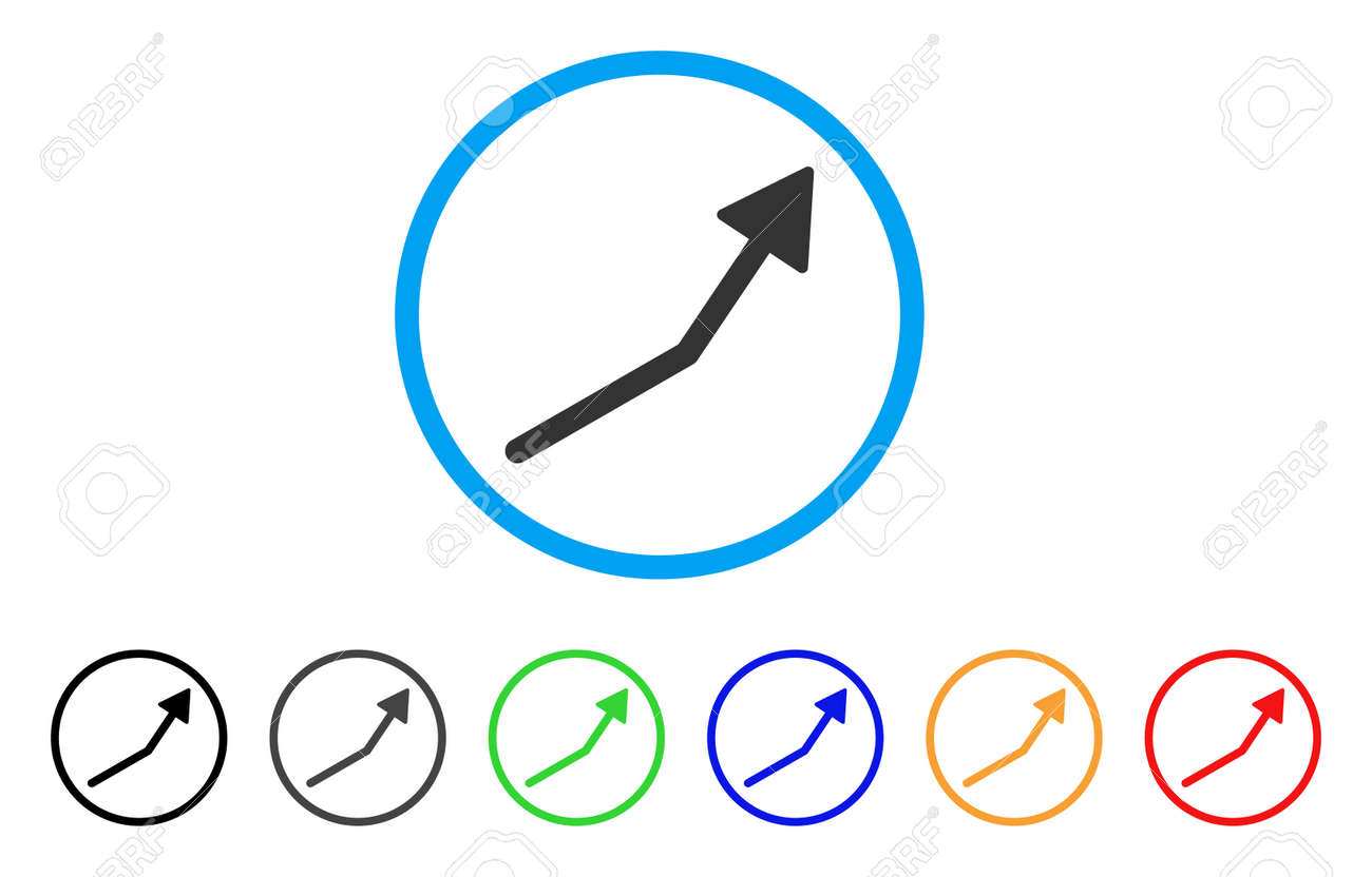 Positive trend arrow rounded icon style is a flat positive trend positive trend arrow rounded icon style is a flat positive trend arrow grey symbol inside buycottarizona Choice Image