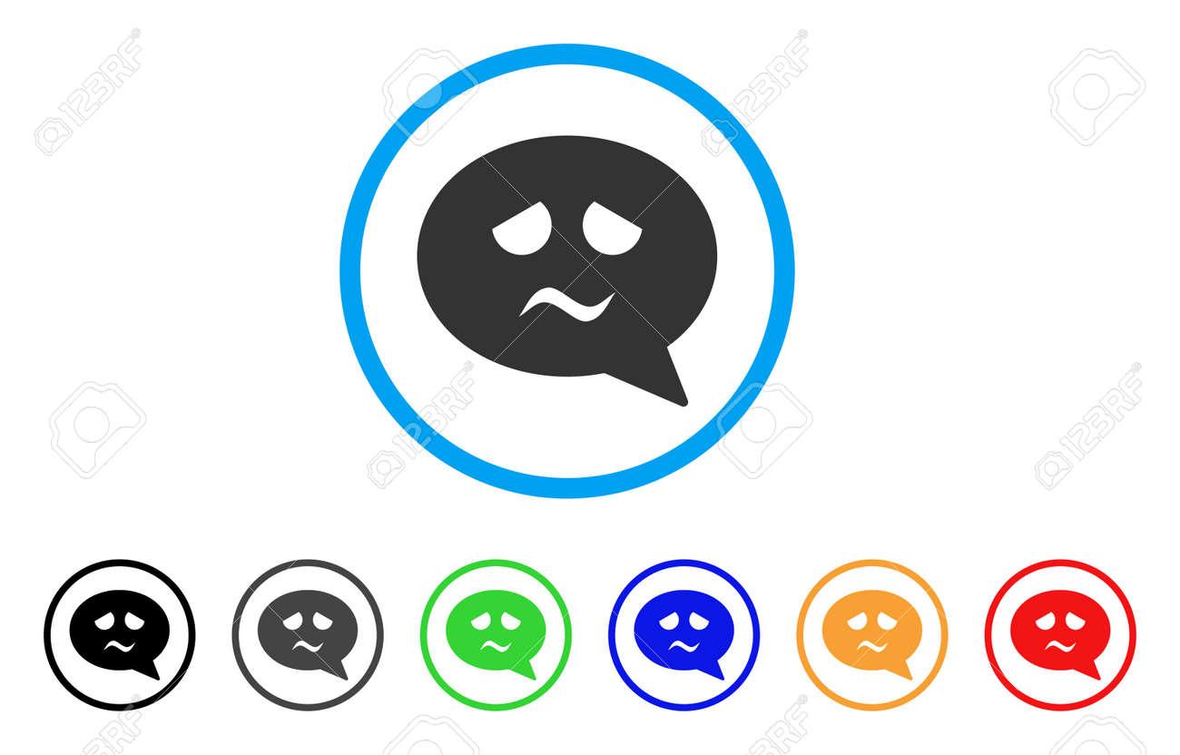 Icône De Message Smiley De Tristesse Le Style Dillustration Vectorielle Est Un Symbole De Message Smiley Triste Iconique Plat Avec Des Variantes De