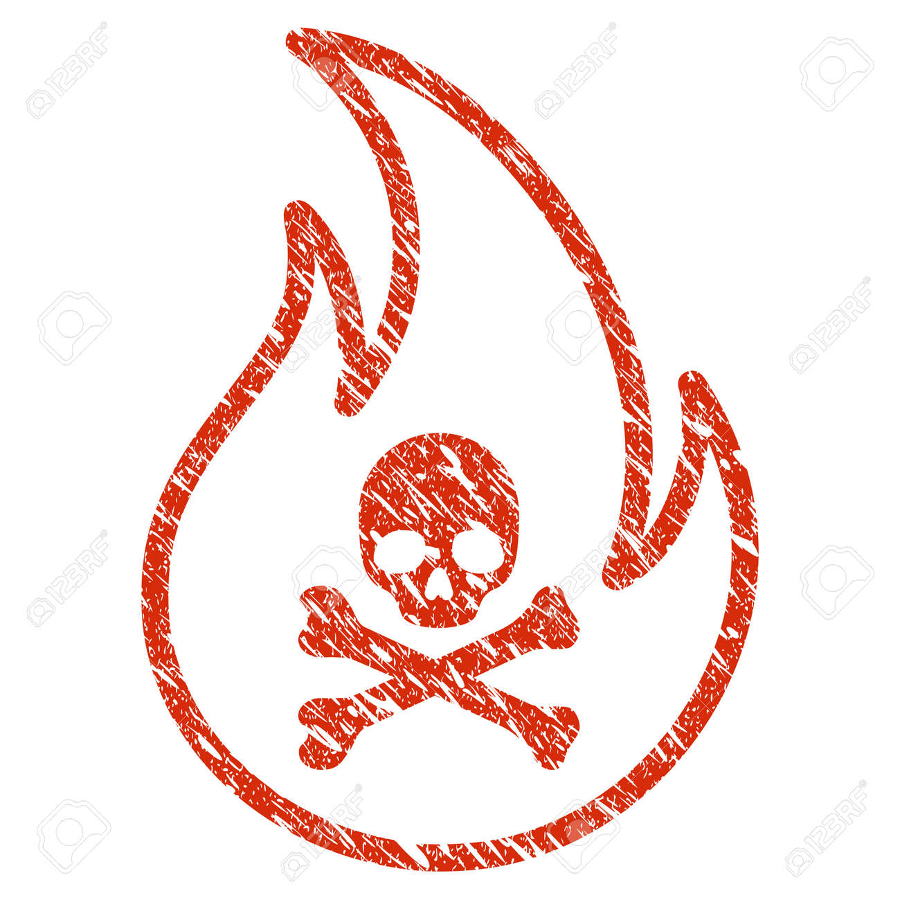 Grunge Toxic Fire Rubber Seal Stamp Watermark Icon Toxic Fire