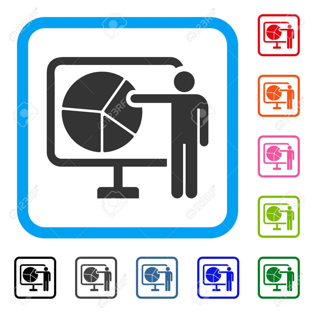 pie chart public report icon flat gray iconic symbol inside