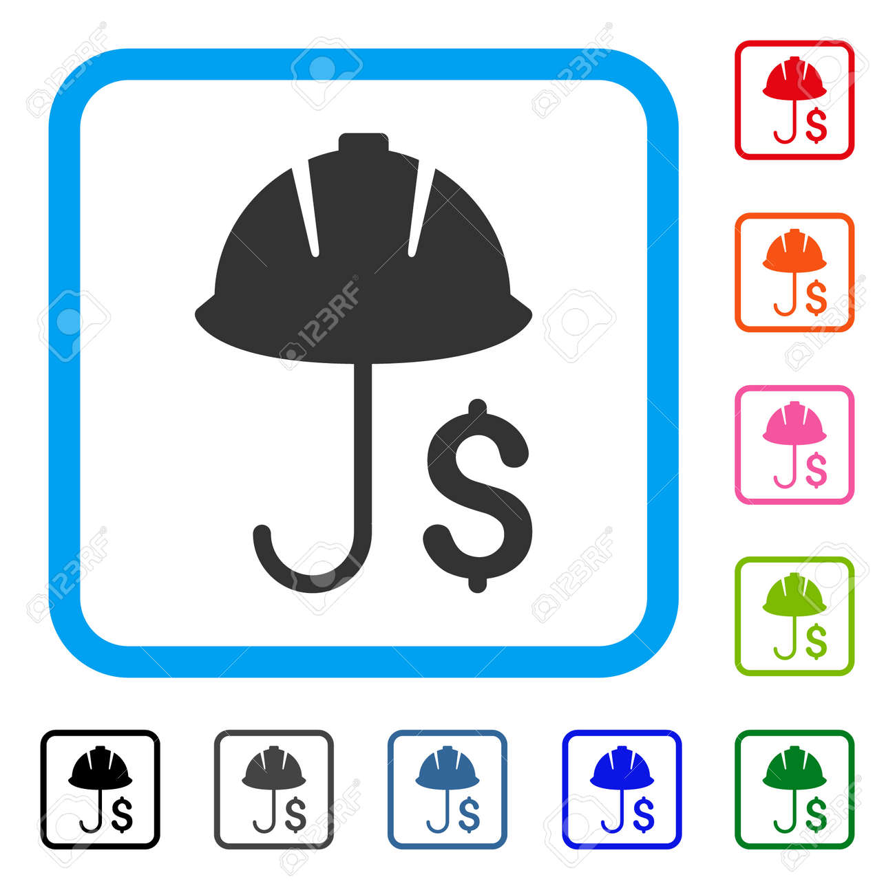 Development Financial Coverage Icon. Flat Gray Pictogram Symbol ...