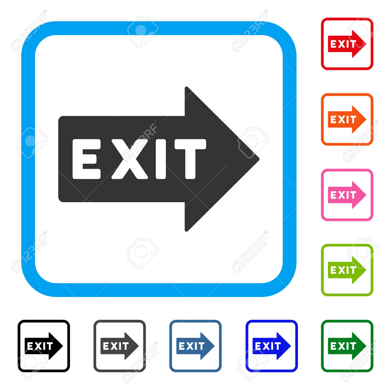Exit arrow icon flat gray iconic symbol in a light blue rounded exit arrow icon flat gray iconic symbol in a light blue rounded square black buycottarizona Choice Image