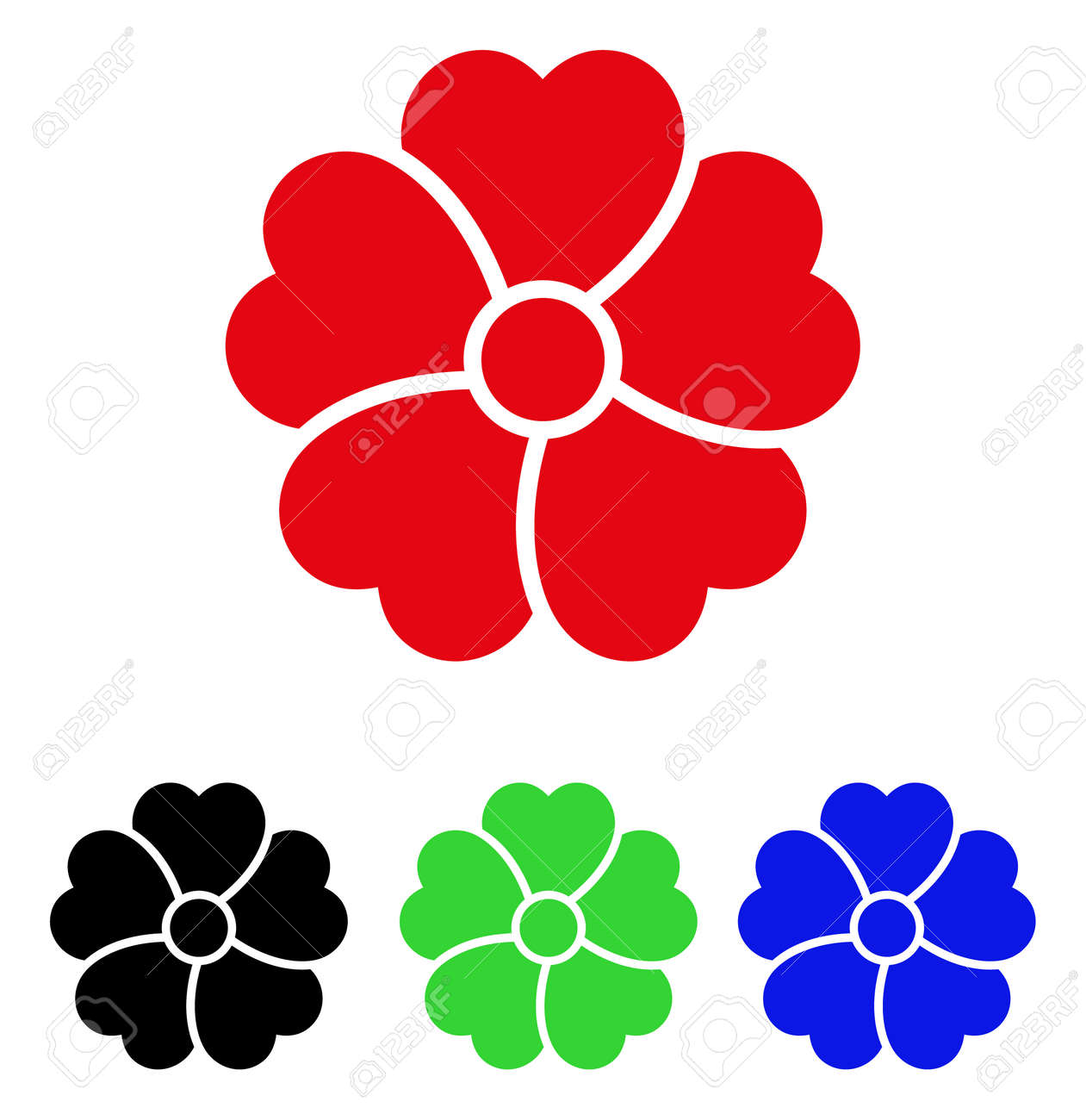 Flower Icon. Vector Illustration Style Is A Flat Iconic Flower ...