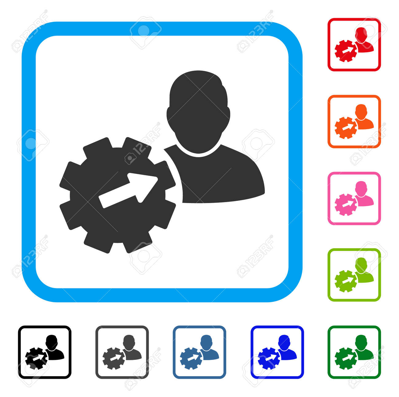 user integration api gear icon royalty free cliparts vectors and