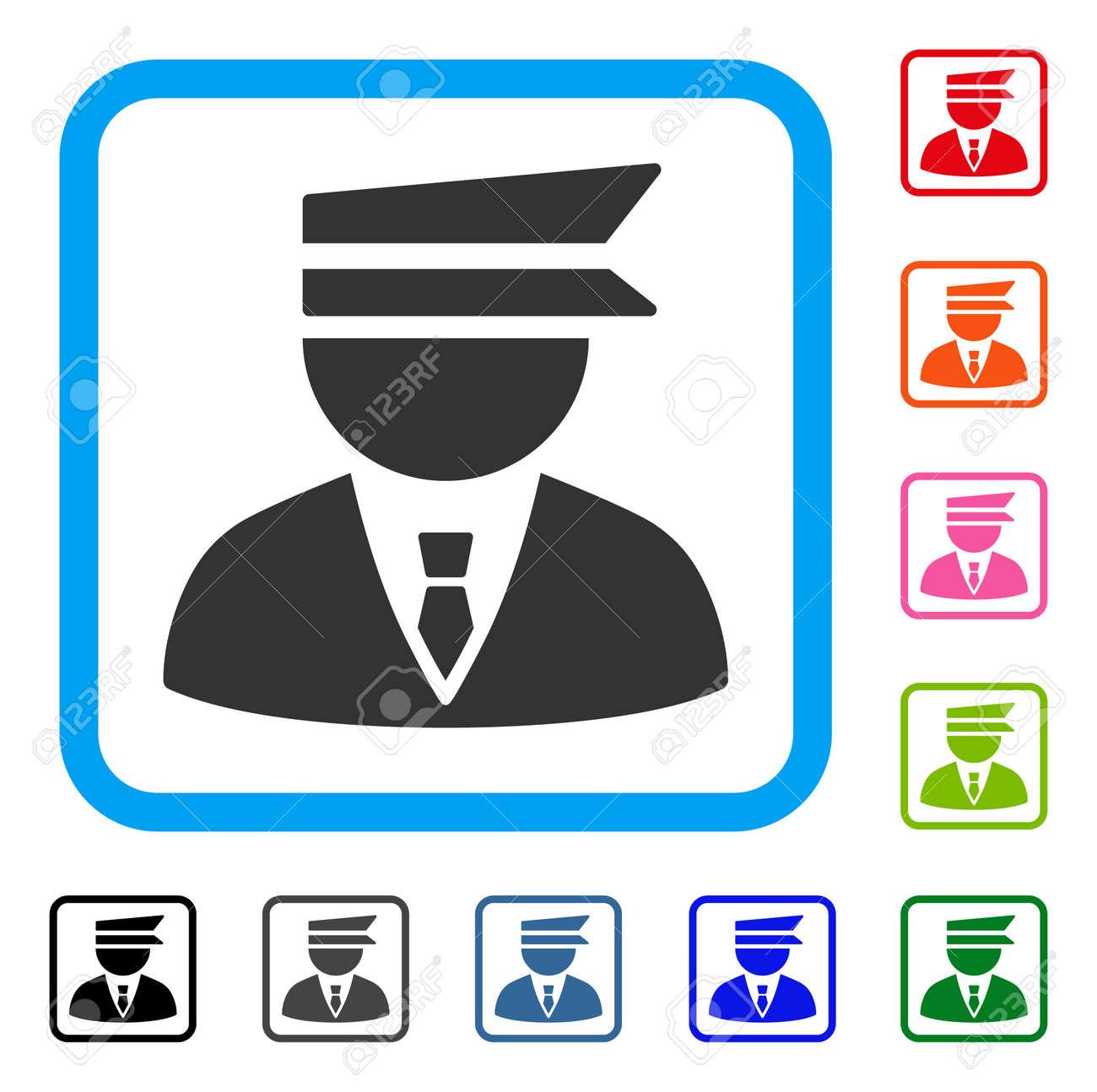 Icono De Oficial De Policía. Símbolo De Pictograma Gris Plana En Un ...