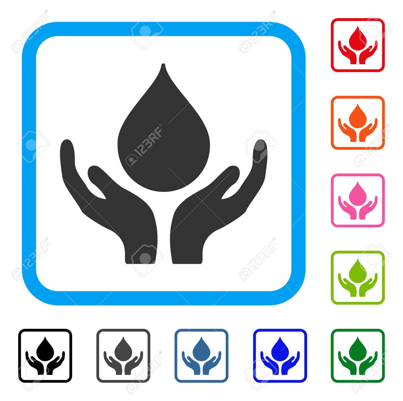 Icono De Manos De Donación De Sangre. Símbolo De Pictograma Gris ...