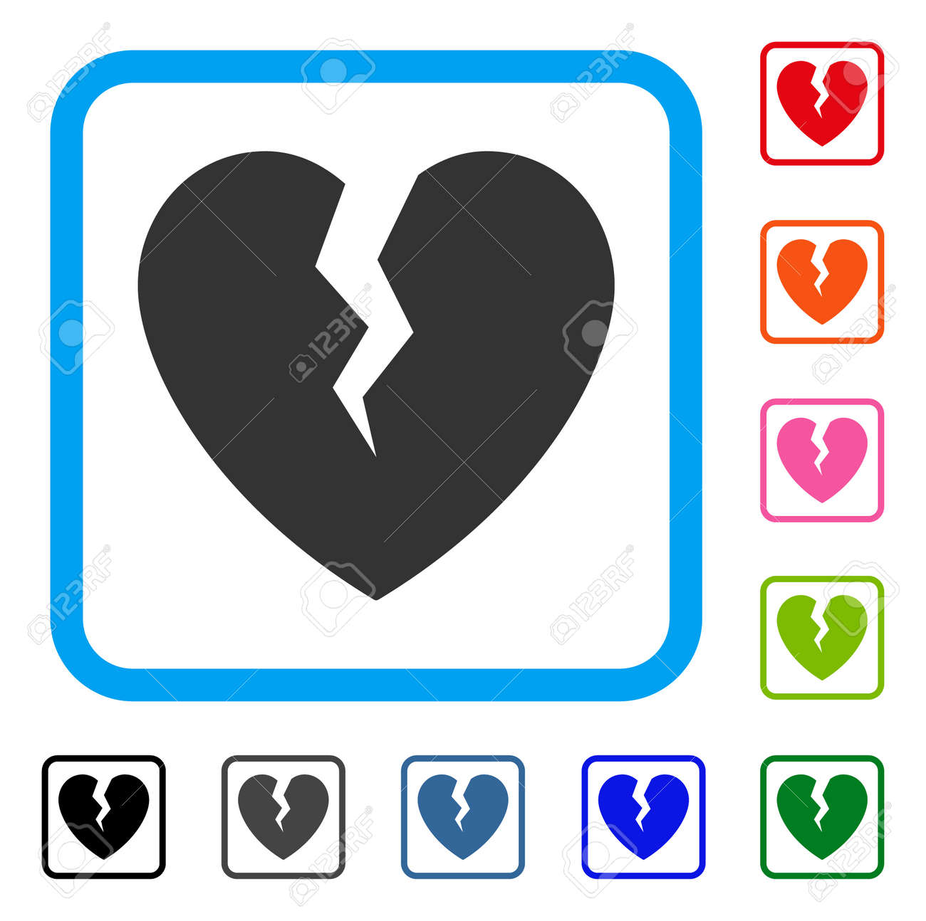 Broken heart icon flat gray iconic symbol inside a blue rounded broken heart icon flat gray iconic symbol inside a blue rounded rectangle black buycottarizona