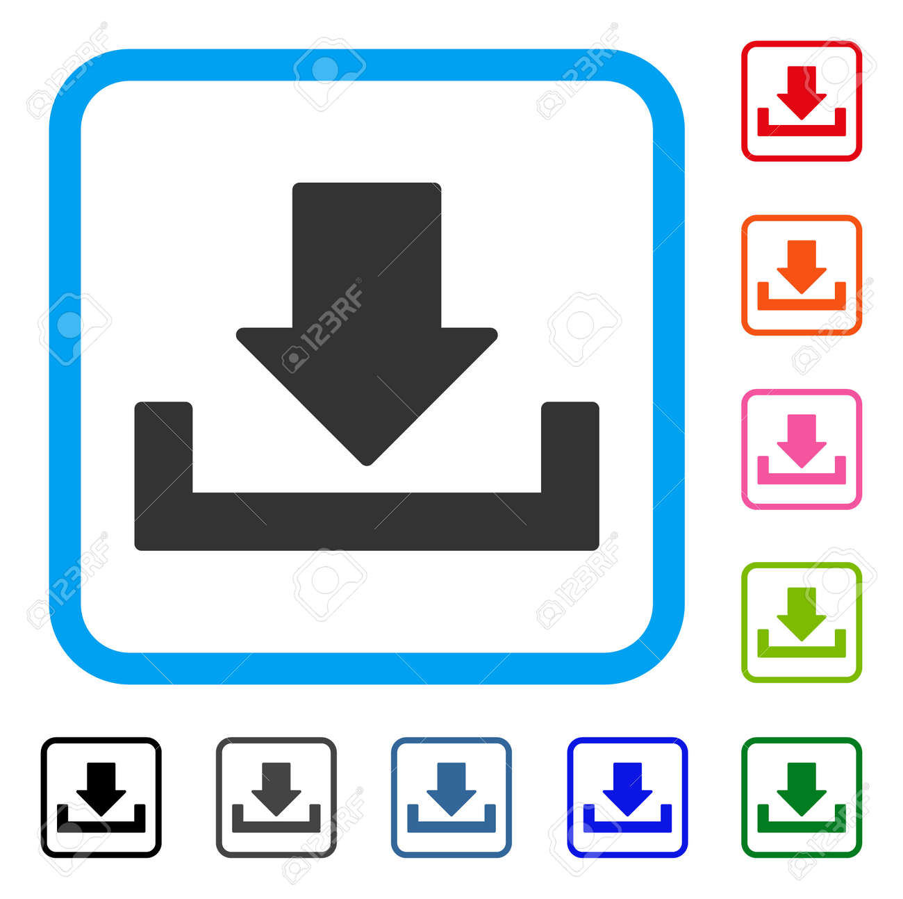 Free software. Set of red green blue button. — stock vector.