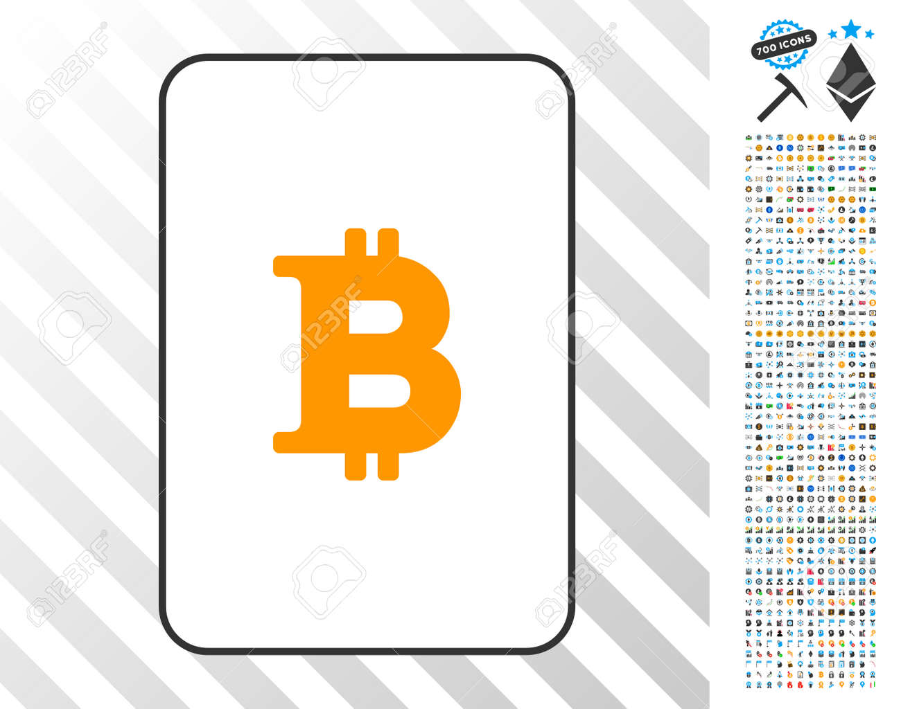 Bitcoin Playing Card Icon With 700 Bonus Bitcoin Mining And Blockchain Royalty Free Cliparts Vectors And Stock Illustration Image 93481424