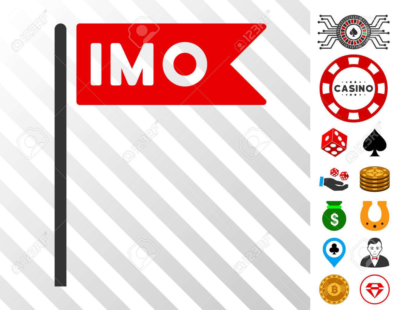 Imo Flag Icon With Bonus Casino Graphic Icons Vector Illustration