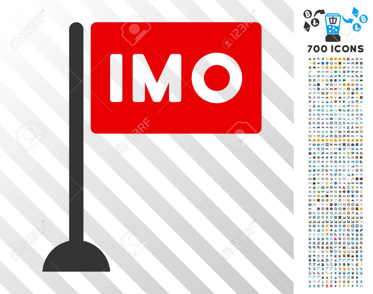 Imo Flag Pictograph With 700 Bonus Bitcoin Mining And Blockchain