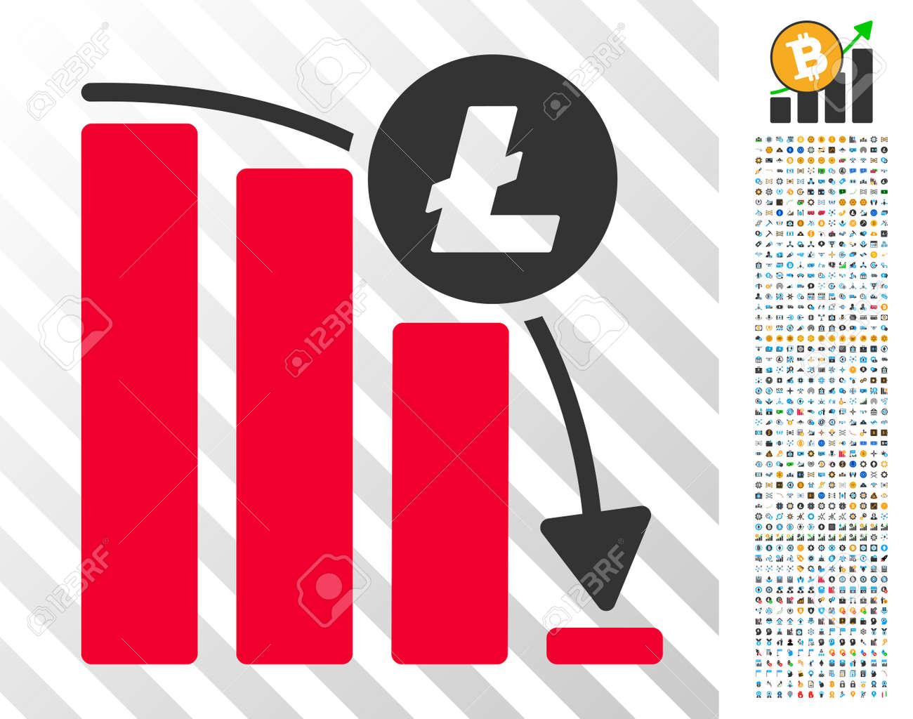 Litecoin Epic Fail Graph icon with 700 bonus bitcoin mining and