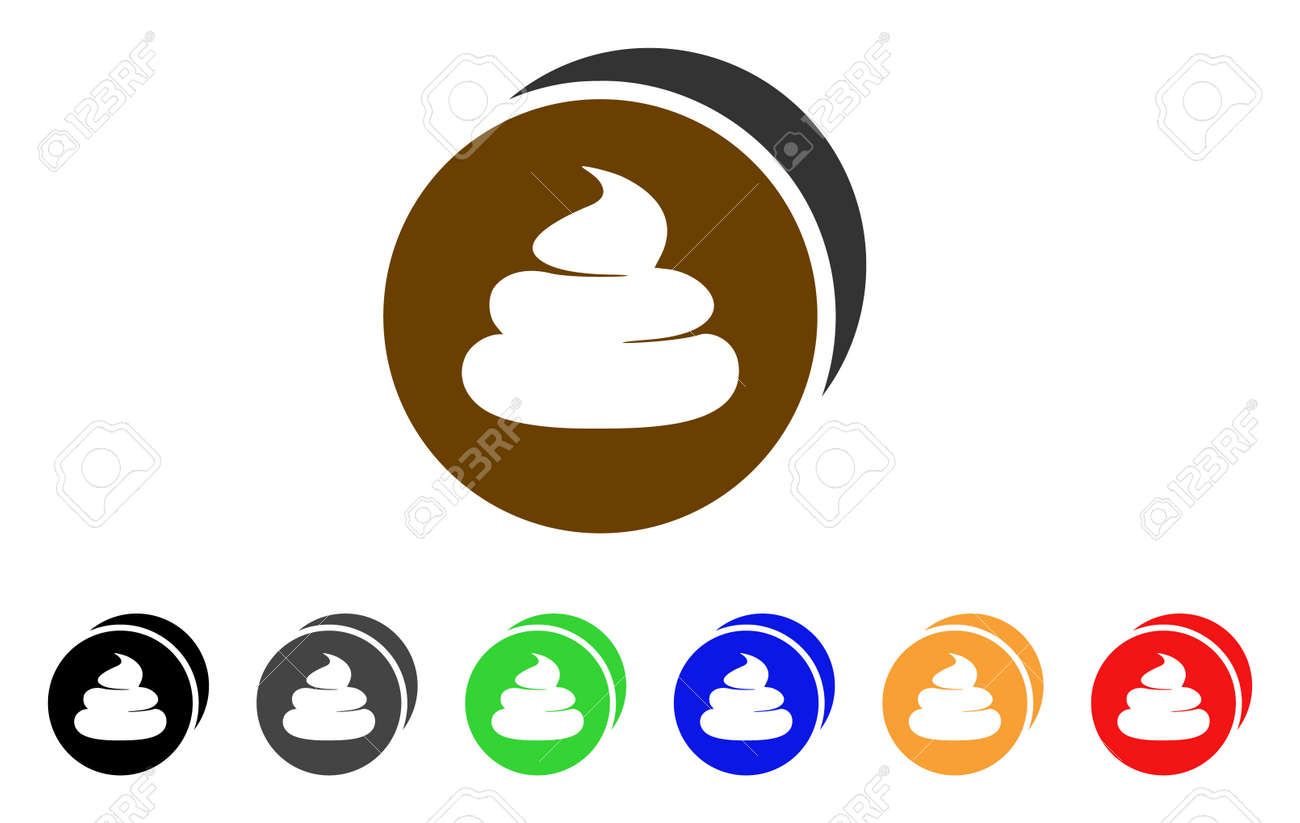 Poop coin icon  Vector illustration style is a flat iconic Poop