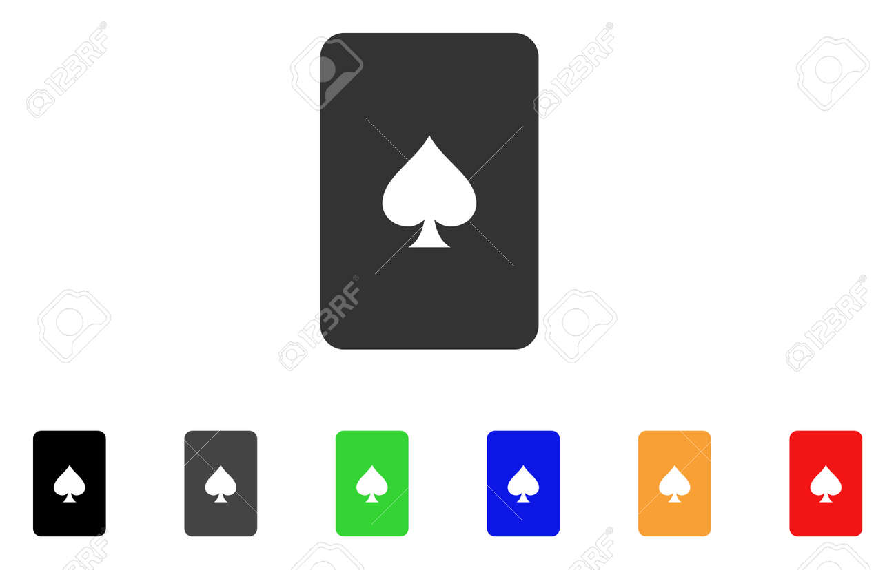 Peaks Playing Card Icon Vector Illustration Style Is A Flat Royalty Free Cliparts Vectors And Stock Illustration Image 94101036