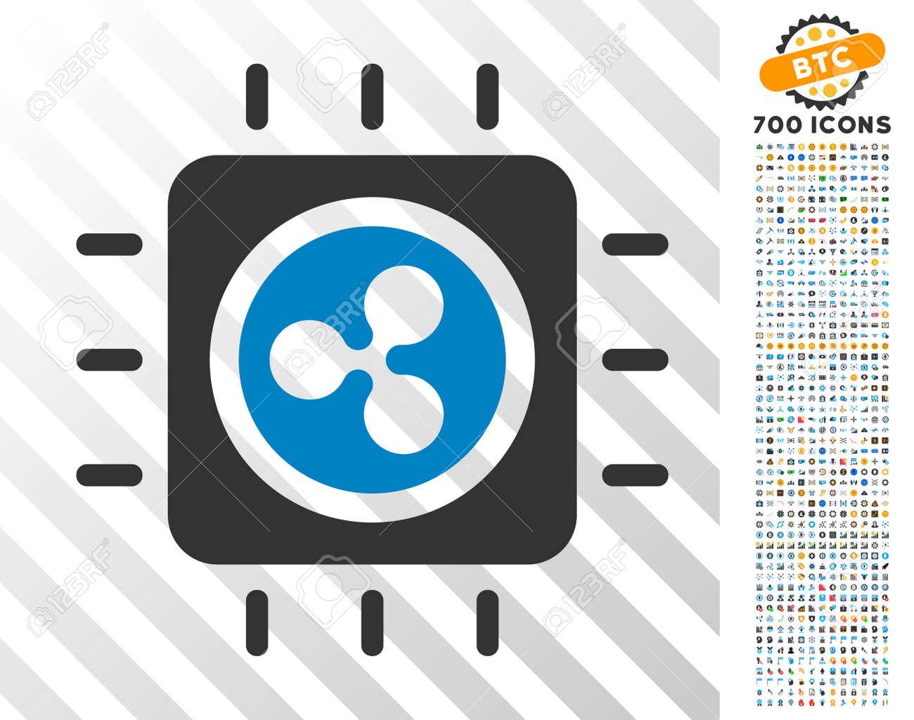 Ripple Processor Chip pictograph with 700 bonus bitcoin mining