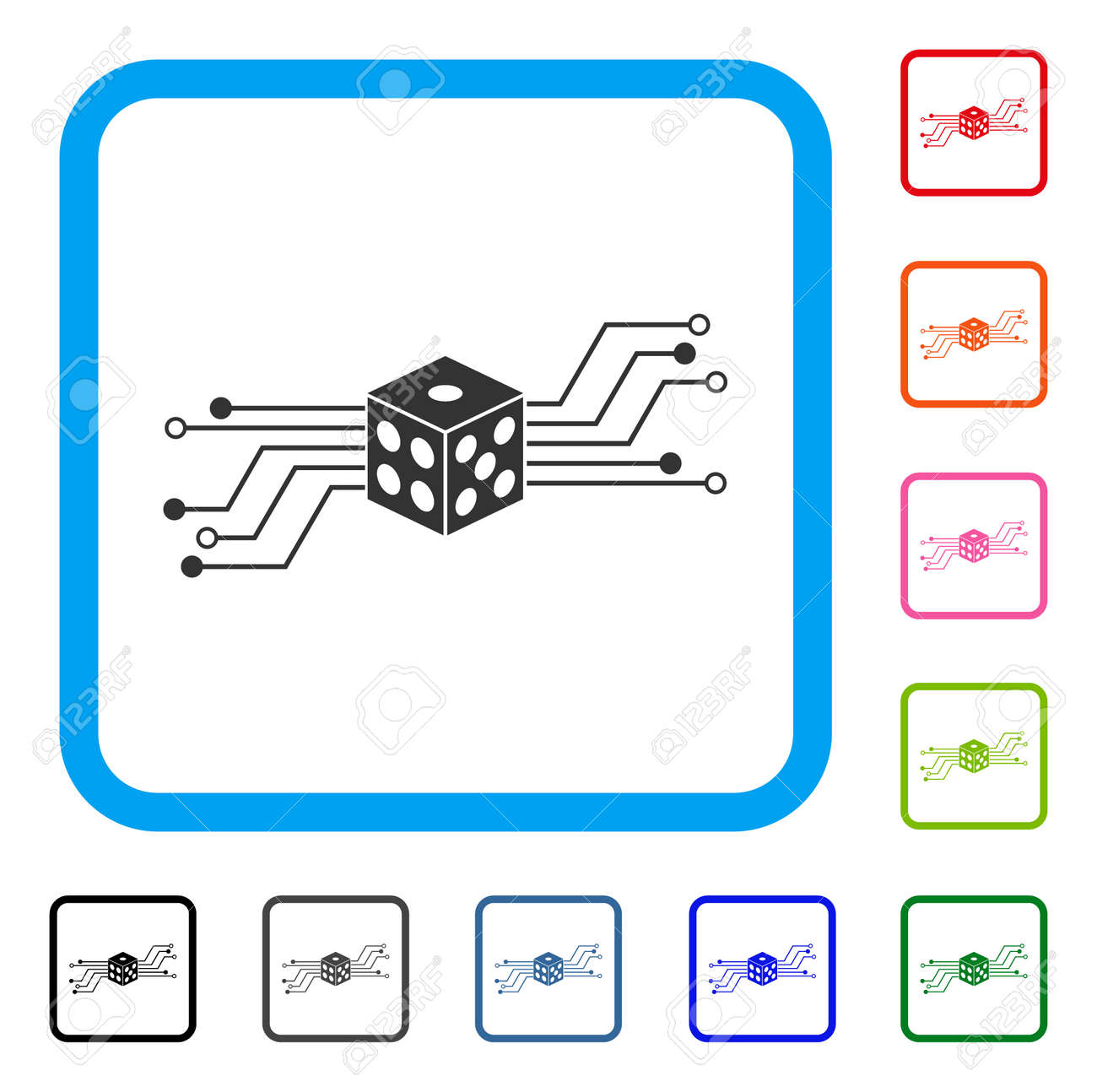 Digital Circuit Icon Manual Guide Wiring Diagram Electronic Dice Flat Gray Pictogram Symbol In Rounded Rh 123rf Com Construction