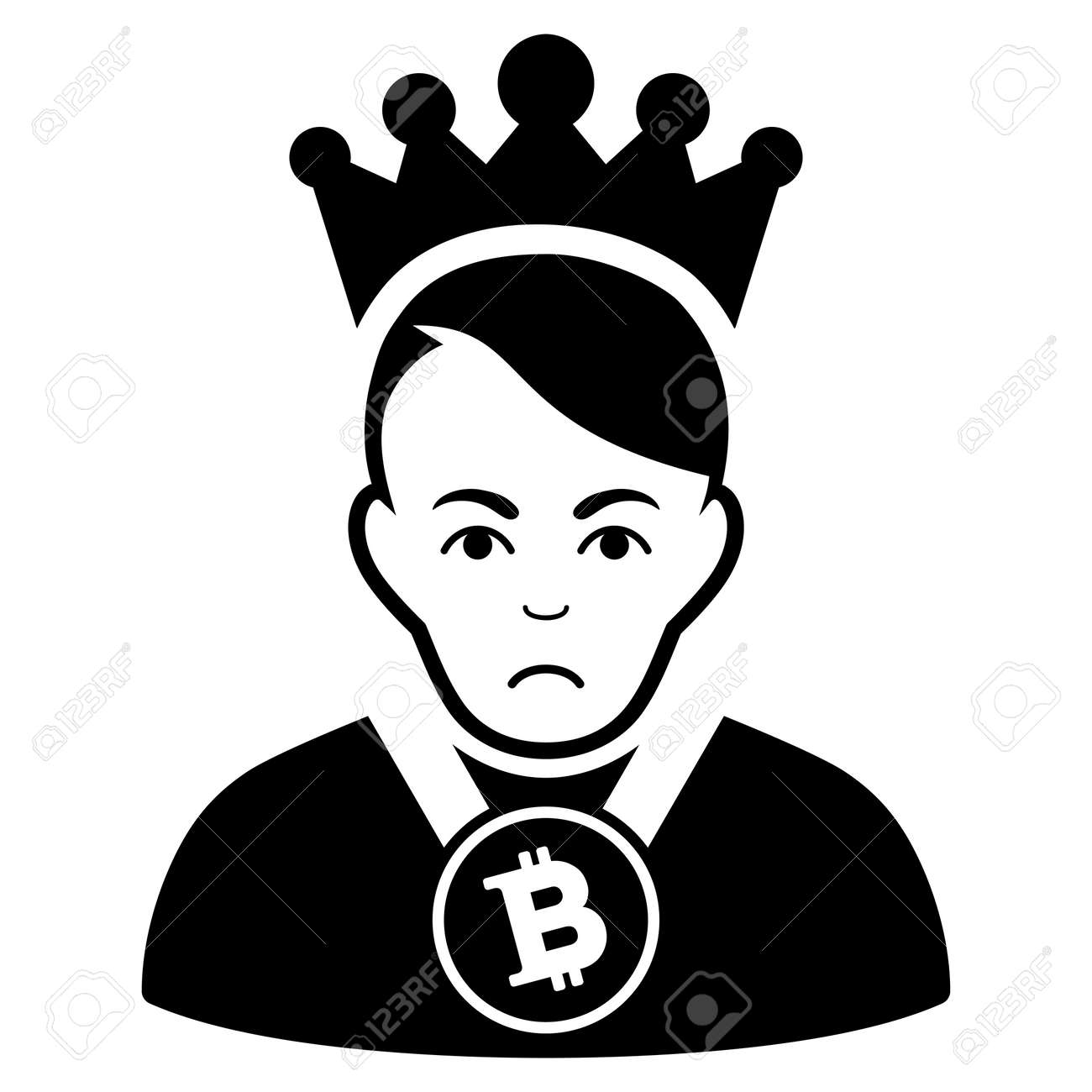 0a285673c28 Sad Bitcoin Lord vector icon. Style is flat graphic black symbol with  dolour sentiment.