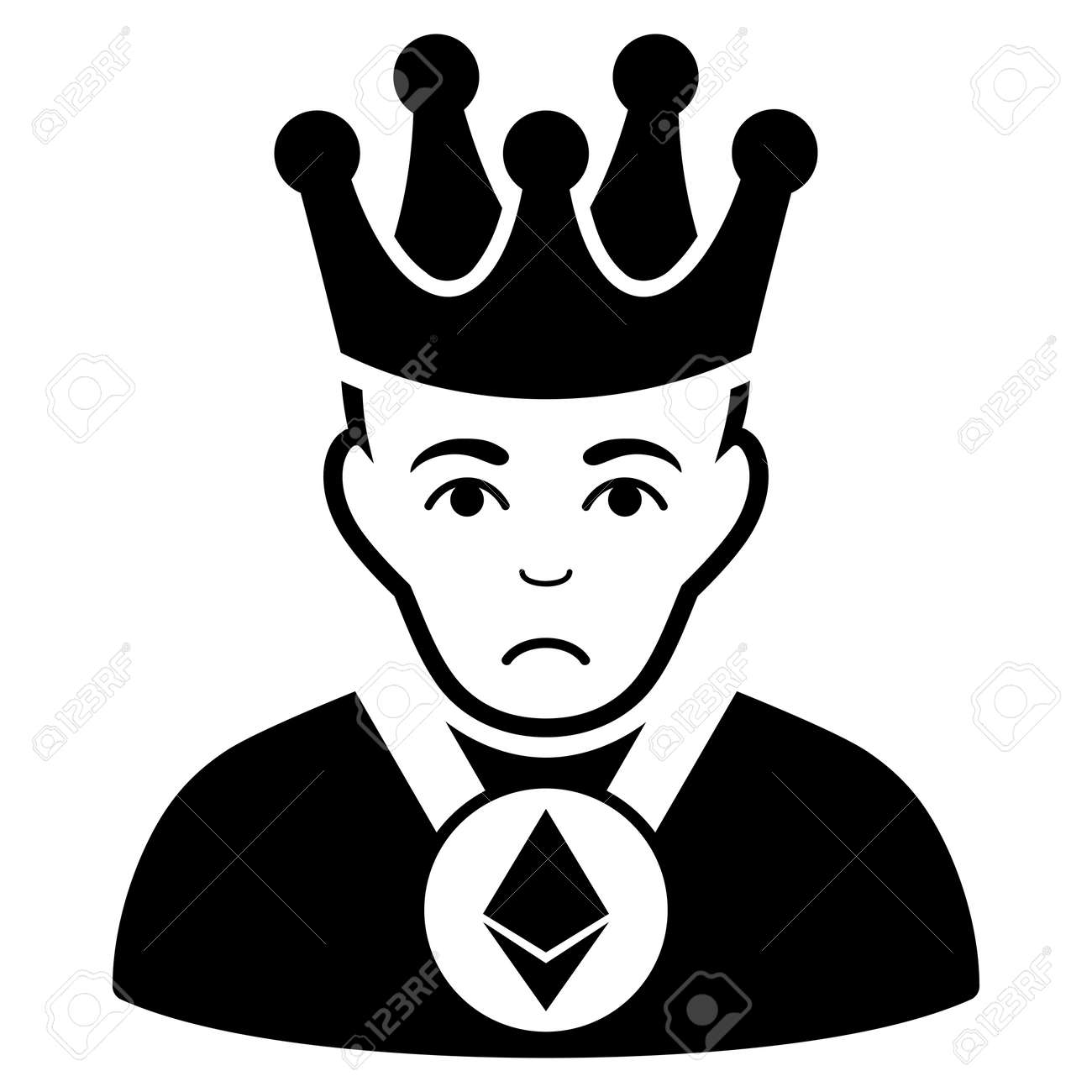 1145268a13d Sad Ethereum Lord vector icon. Style is flat graphic black symbol with  sadness emotion.