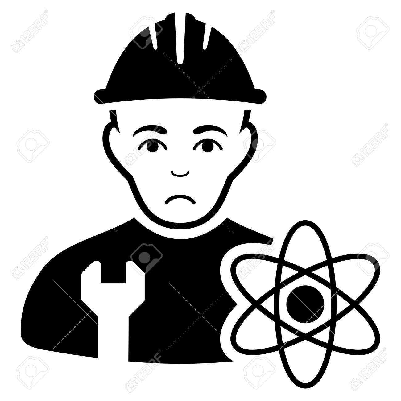 sad scientist engineer vector icon style is flat graphic black royalty free cliparts vectors and stock illustration image 94314936 sad scientist engineer vector icon style is flat graphic black