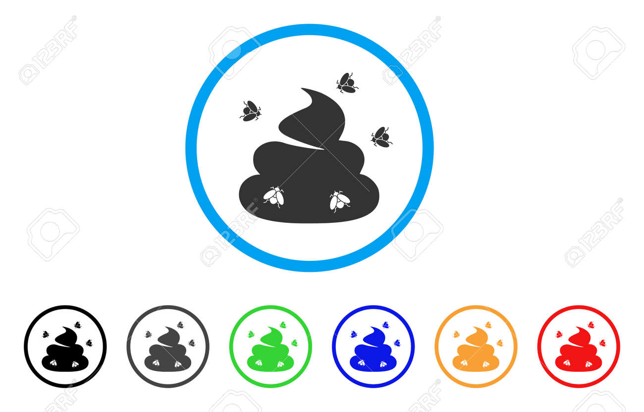 Poop Flies icon  Vector illustration style is a flat iconic shit