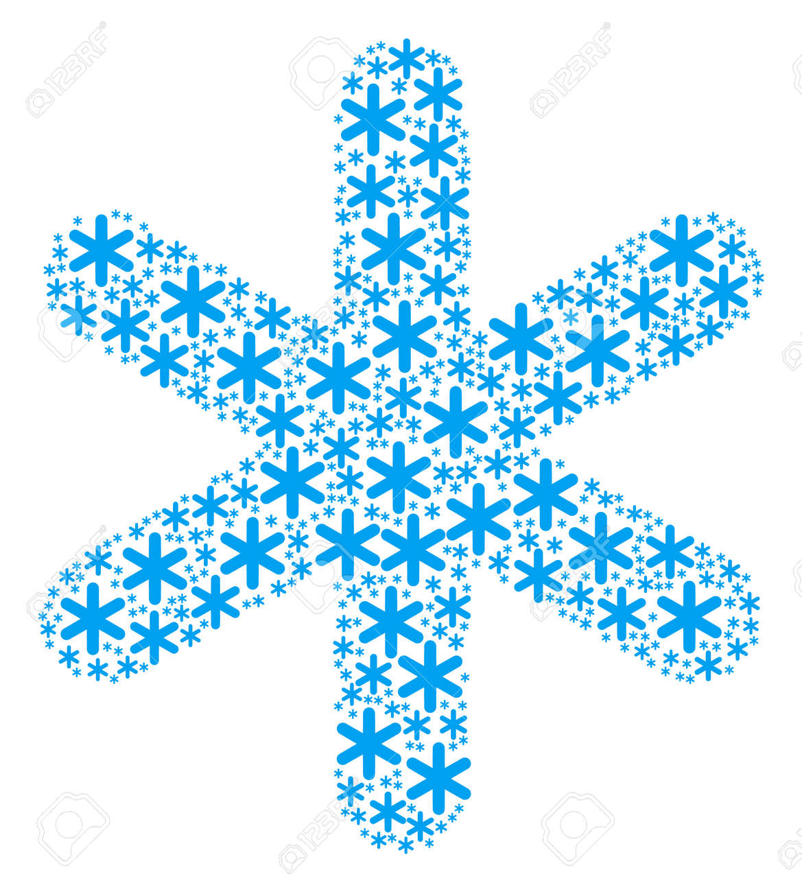 Snowflake pattern combined in the group of snowflake icons  Vector