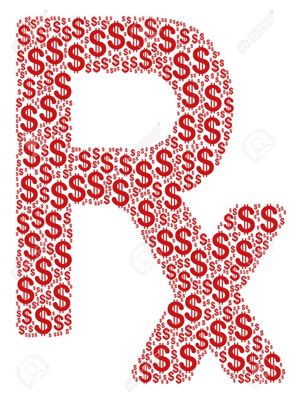 Rx Symbol Mosaic Of Dollar Symbols Raster Dollar Currency Icons