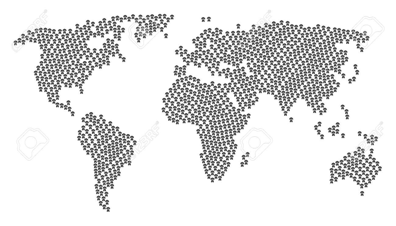 Worldwide Atlas Mosaic Organized Of Human Anatomy Design Elements ...