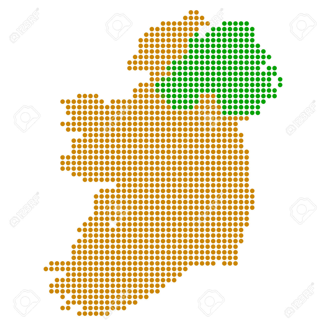 Small Map Of Ireland.Dotted Ireland Map Raster Composition Of Ireland Map Created