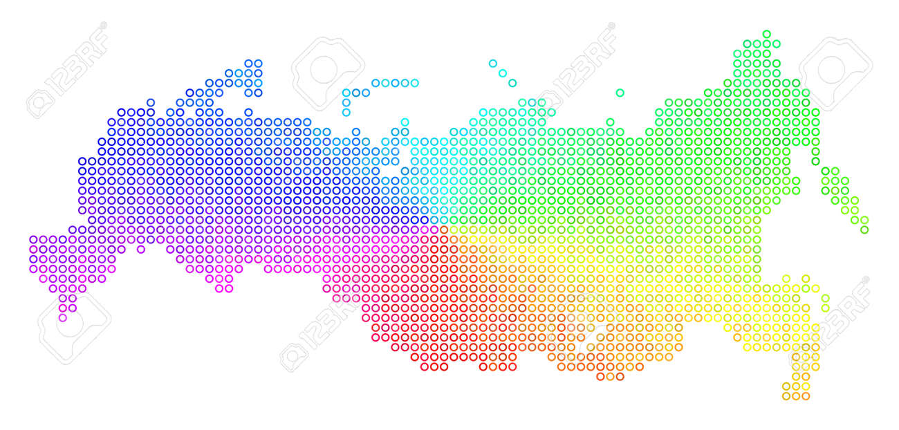 Spectral Russia Map. Vector geographic map in bright rainbow.. on korea map, china map, poland map, australia map, united kingdom map, france map, iraq map, soviet union map, europe map, africa map, italy map, asia map, saudi arabia map, romania map, india map, baltic map, canada map, japan map, eurasia map, germany map,