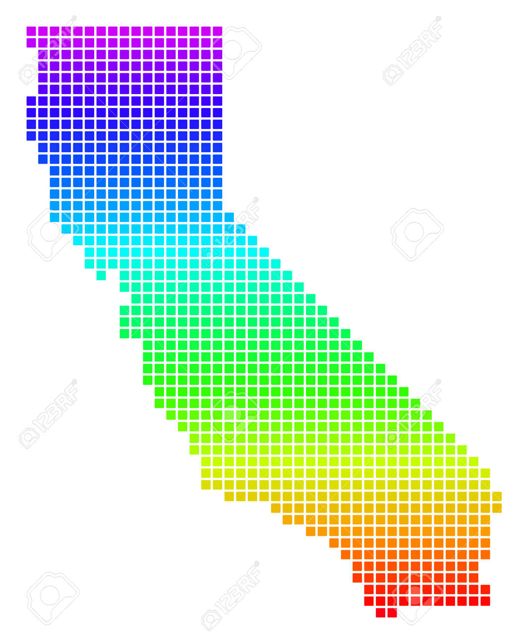 Colored Rainbow Dot California Map. Vector geographic map in.. on koppen climate map california, entertainment map of california, show map of california, travel map of california, demographic map of california, gis map of california, transportation map of california, education map of california, large map of california, whole map of california, geopolitical map of california, draw a map of california, physical characteristics of california, the map of california, topographic map of california, artistic map of california, military map of california, counties of california, geologic map of california, racial map of california,