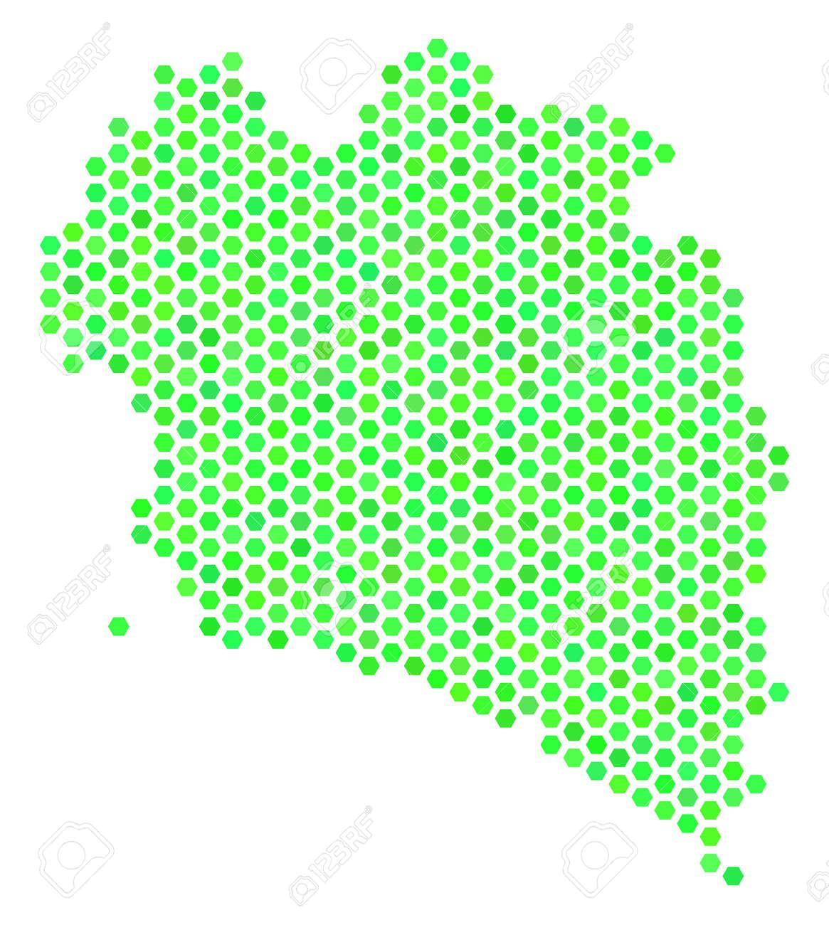 Koh Phangan Thailand Map.Green Koh Phangan Thai Island Map Vector Hexagon Territorial
