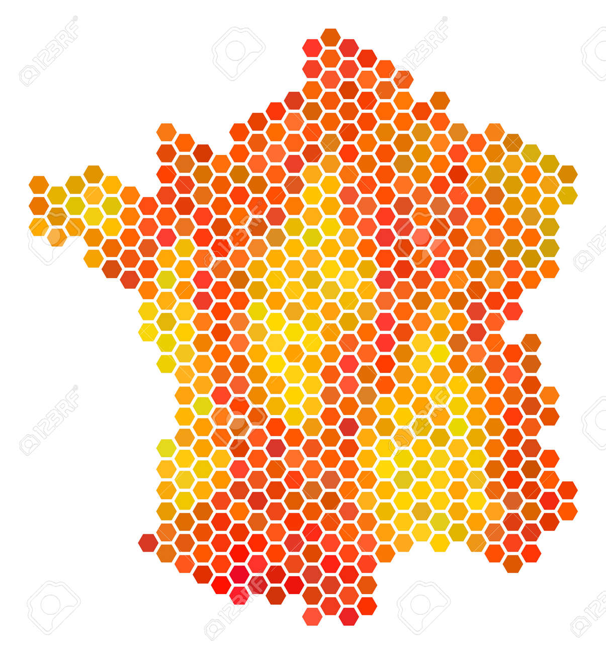 france map raster hex tile territory plan drawn with bright stock