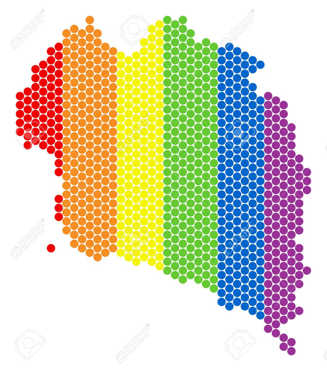 Koh Phangan Thailand Map.A Dotted Lgbt Koh Phangan Thai Island Map For Lesbians Gays