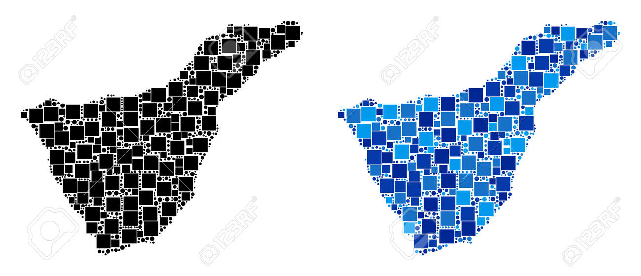 Map Of Spain Tenerife.Dotted Tenerife Spain Island Map Versions Abstract Geographic