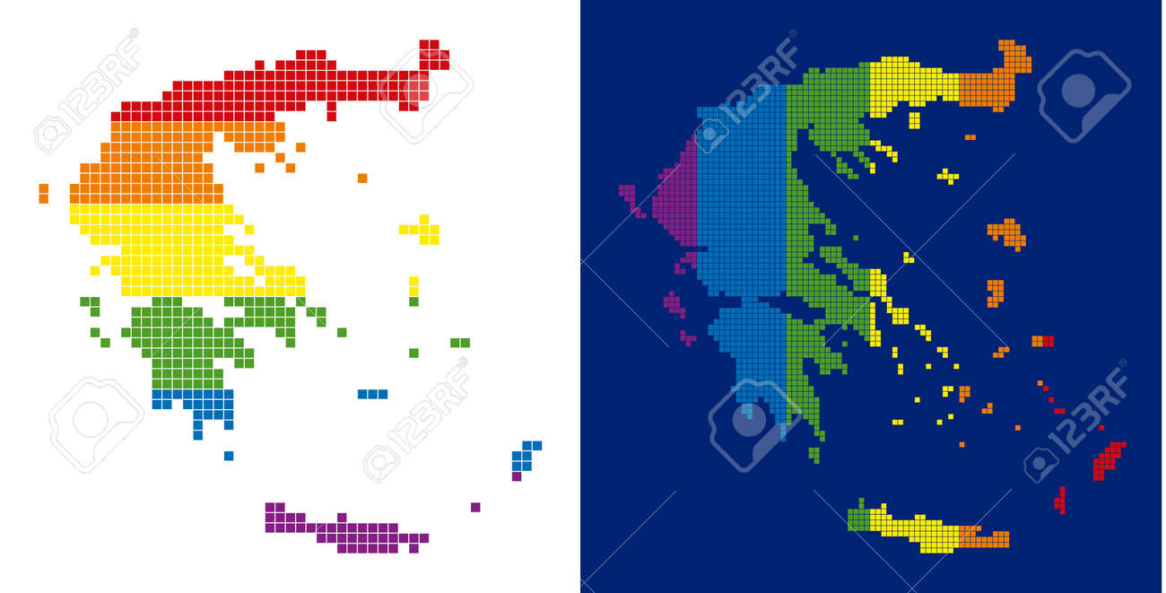Picture of: Dot Lgbt Greece Map Versions Vector Geographic Maps In Rainbow Royalty Free Cliparts Vectors And Stock Illustration Image 103028464