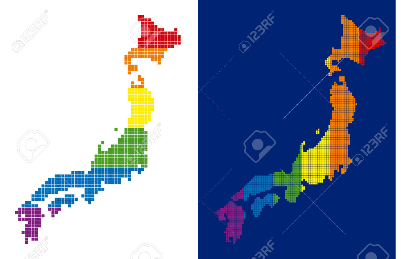 Picture of: Dotted Lgbt Japan Map Variants Vector Geographic Maps In Lgbt Royalty Free Cliparts Vectors And Stock Illustration Image 103028478