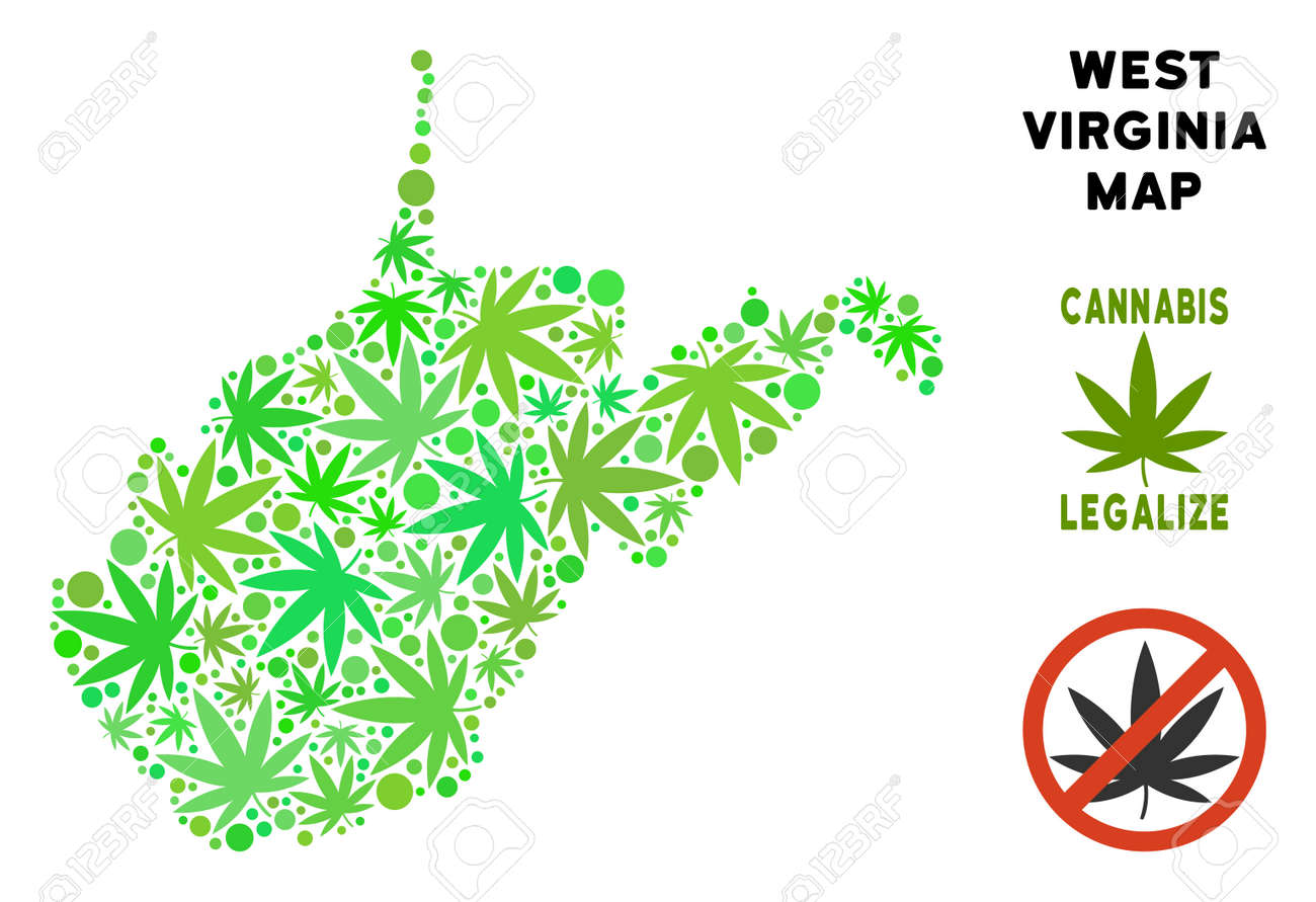 Weed Leaf Template | Royalty Free Cannabis West Virginia State Map Collage Of Weed