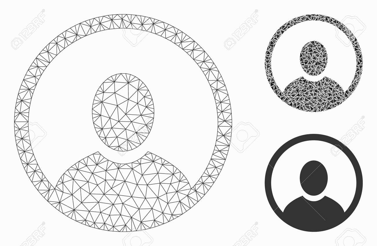 söpö halpa Julkaisupäivä: alennuksessa Mesh rounded user portrait model with triangle mosaic icon. Wire..