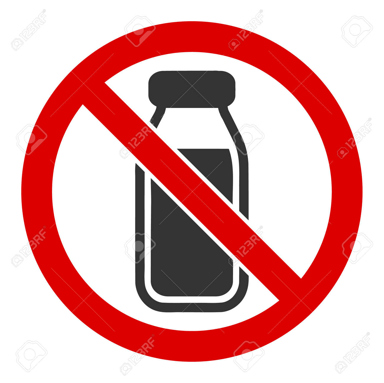 No milk bottle vector icon. Flat No milk bottle symbol is isolated on a white background. - 137263885